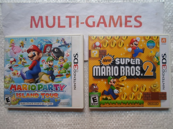 Mario Party + New Mario Bros 2 Nintendo 3ds.