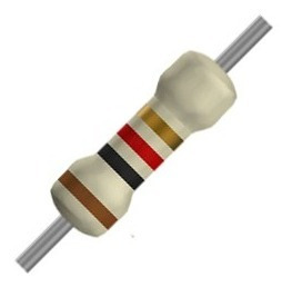 Resistor 1/4w 5% De 1k, 10k, 100k, 3k3, 4k7, 33k, 330r, 220r