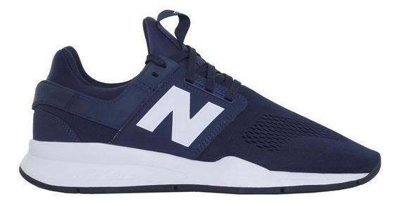 Zapatillas New Balance Ms247en Azul/blanca - Corner Deportes