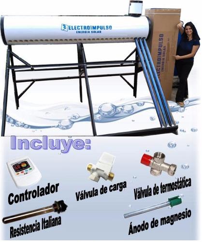 Imagen 1 de 7 de Termotanque Solar 300 Litros, Controlador, Mezclador, Resist