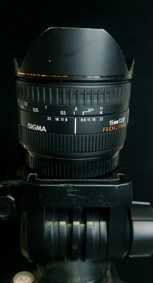 Lente Sigma 15mm F/2.8 Ex Dg Fisheye (para Canon)