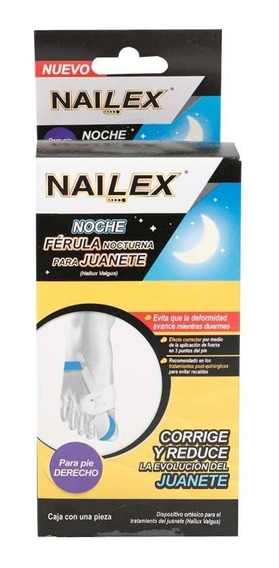 Férula Nocturna Nailex Para Juanete Pie Derecho 1 Pza