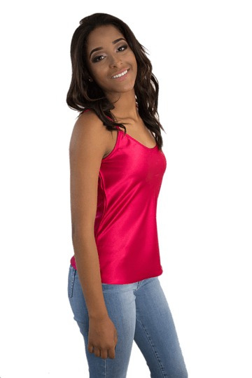 Camiseta Cetim Vermelha