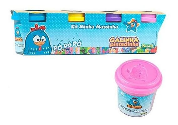 Massinha De Modelar 4 Potes Galinha Pintadinha Sunny - Azul