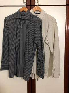 Lote Camisa Social E Cashmere Masculina Diversas Marcas