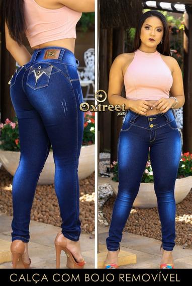 Calca Jeans Feminina Levanta O Bumbum Estilo Modelo Pitibull