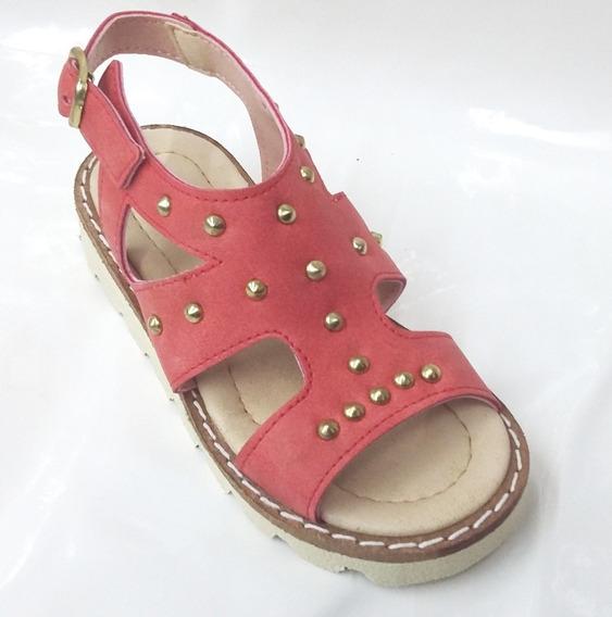 Sandalia Zapato Nena Del 21 Al 26 Color Coral Liviana