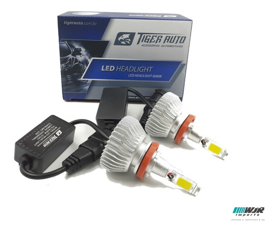 Kit Lampada Super Led H8 4400 Lumens