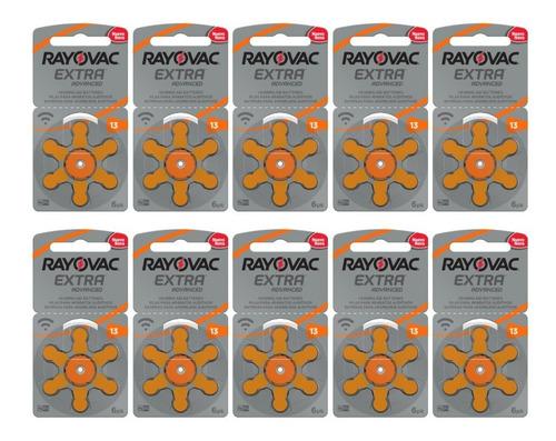 Pilha Auditiva Rayovac 13 - Extra Advanced - 60 Unidades