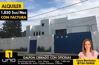 Galpon En Alquiler, Zona Parque Industrial