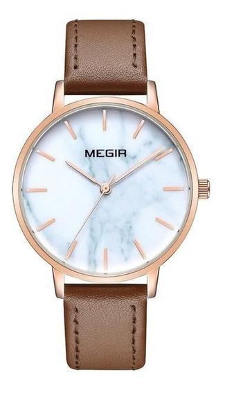 Relógio Megir Ml4204 Feminino Ultra Fino Luxo