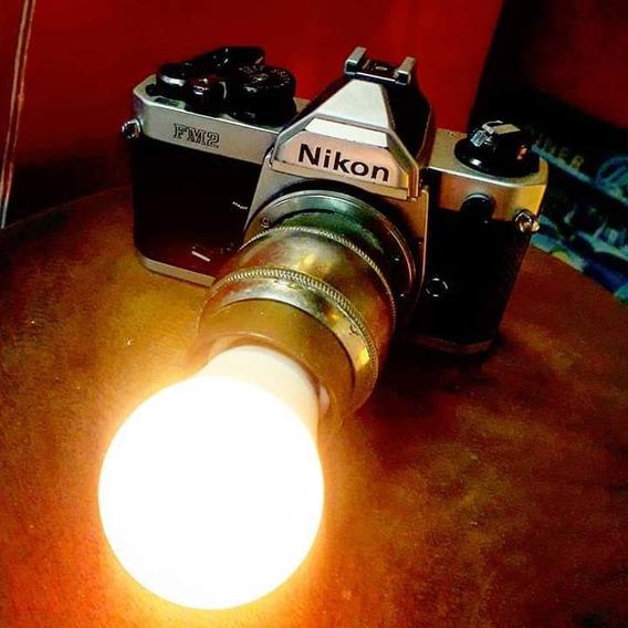 Luminaria Camera De Fotos Nikon Vintage Industrial