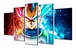 Cuadros Decorativos Vegeta Dragon Ball 150x80 Anime Modernos