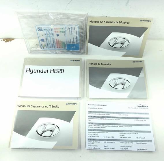 Manual Do Proprietário Livro Hyundai Hb20 Usado Original