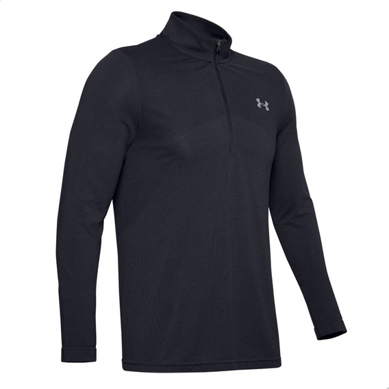 Remera M/l Under Armour Seamless 1/2 Zip Hombre Training