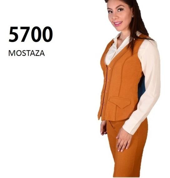 Conjunto Chaleco Pantalon 5700 Mostaza Uniformes Dama