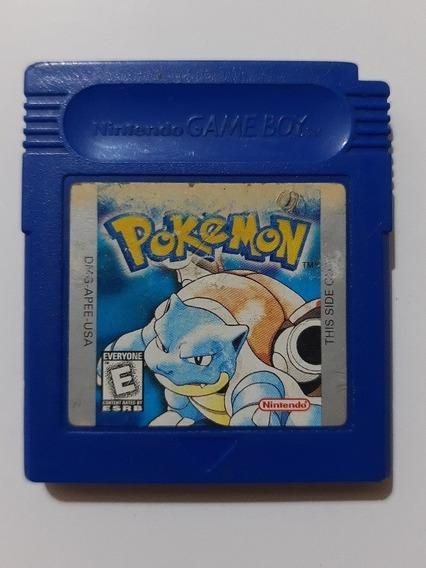 Pokemon Blue Gb Original Americano + Bateria Nova E Garantia