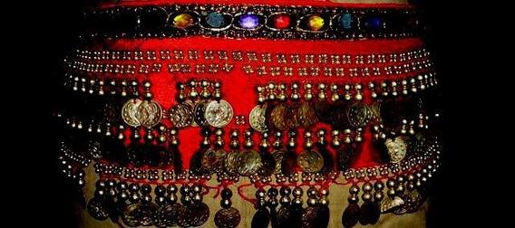 Caderin Shifon Rojo Importado Odalisca Danzas Arabes