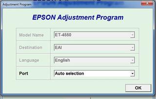 Reset Epson Et4550