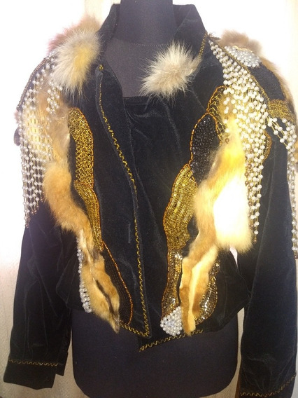 Campera De Gamuza Bordada