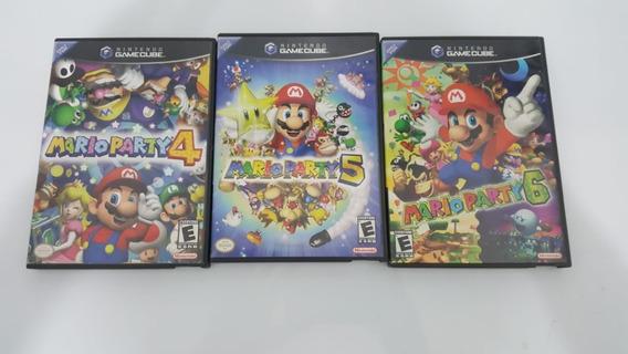 Mario Party 4,5,6 Nintendo Gamecube Original