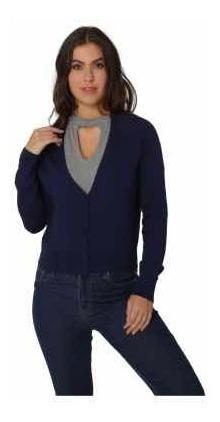 Suéter Azul Marino United Colors Of Benetton Talla Chica