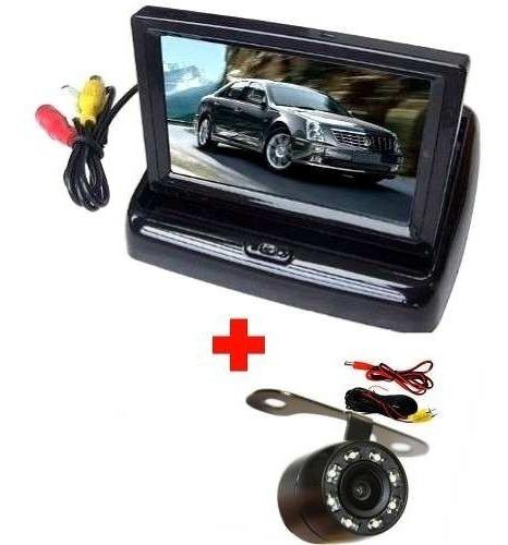 Tela Monitor Veicular Lcd Retratil Camera Re Visao Colorida