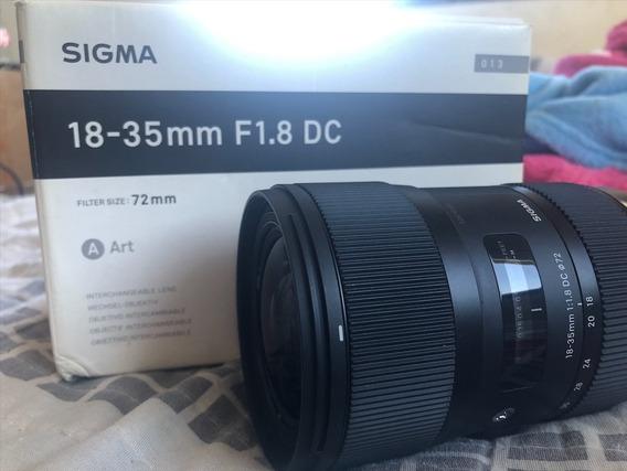 Lente Sigma 18-35mm F/1.8 Dc Hsm P/ Canon