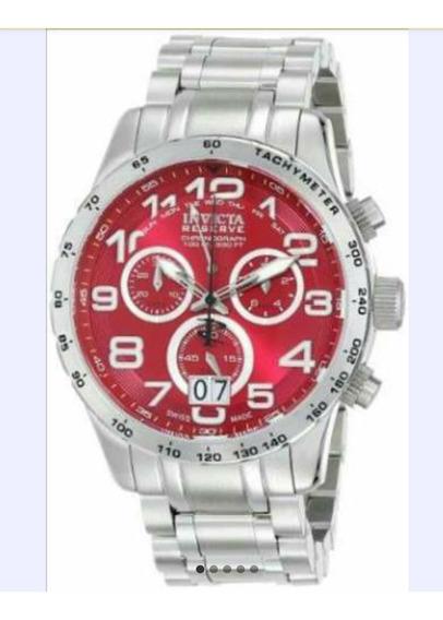 Relógio Invicta Cadet 10738 Swiss Made Vermelho Novo