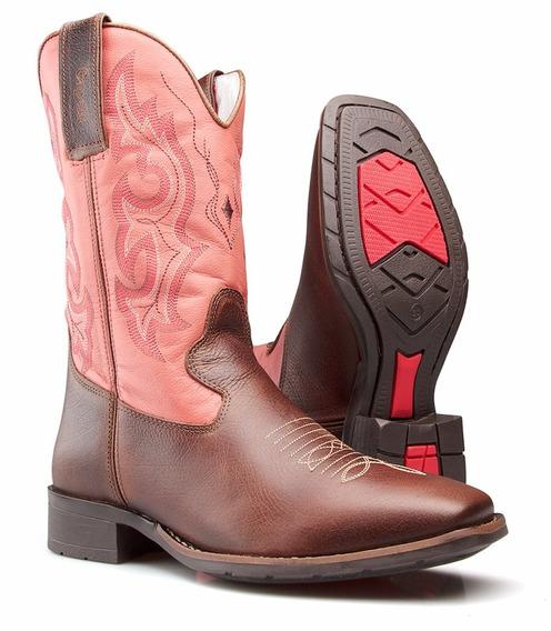 Bota Feminina Country Western Texana Quadrado Capelli Boots