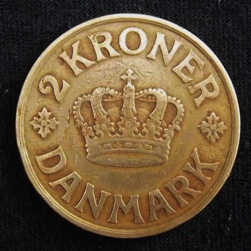 Dinamarca 2 Coronas 1925 Bueno Km 825.1