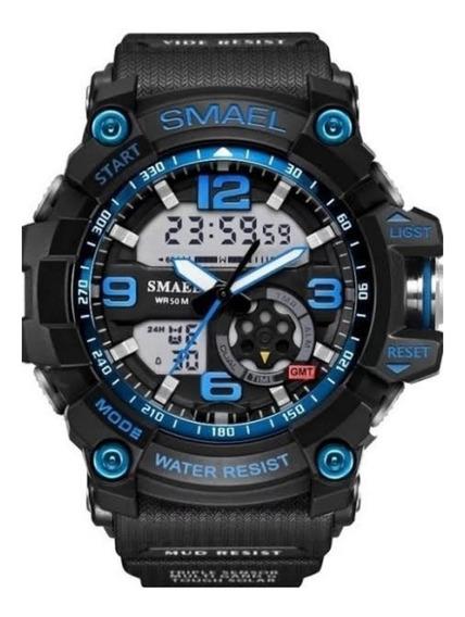 Relógio Esportivo G Shock Smael Azul A Prova D