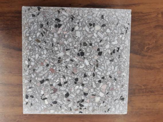 Mosaicos Gris Granitico 25 X 25 Pulidos A Piedra Fina