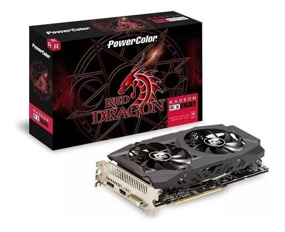 Placa De Video Power Color Radeon Rx 580 8gb Red Dragon