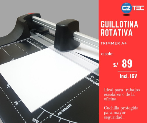 Imagen 1 de 3 de Guillotina Cizalla Rotativa Trimmer A4