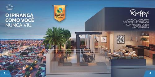 Lançamento No Ipiranga, Up1600, Excelente Acabamento E Projeto, Conceito Roof Top, 2 Dormitorios, 48 M2 E Lazer No Terraço. Casa Verde E Amarela - Ap02143 - 68235642