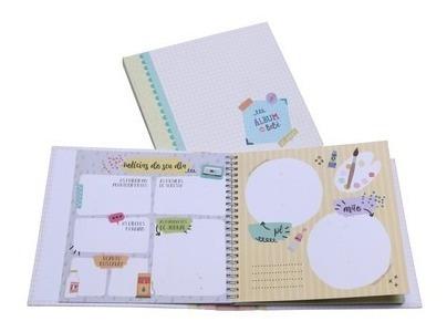 Livro Diário Do Bebê Álbum Presente Recordação Amarelo