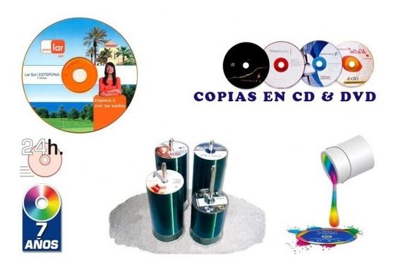 Impresion De Cd Y Dvd + Grabación + Sobre Transparente $ 1
