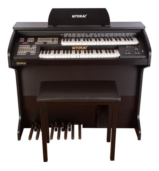Órgão Tokai D2 Dual Voice C/usb Preto Fosco Com Banqueta + Brinde - Oferta!