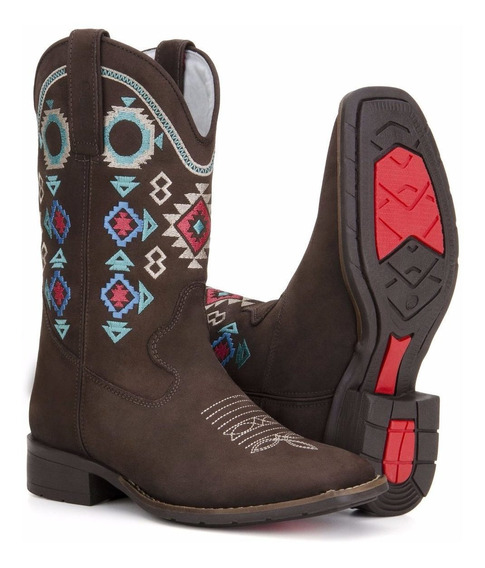 Bota Texana Feminina Country Couro Montaria - Capelli Boots