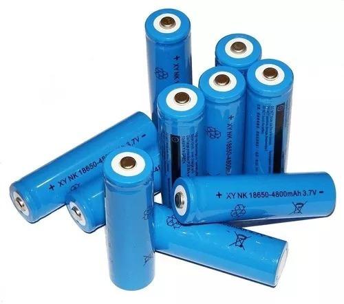 Kit 10 Pilhas 18650 8800mah 3.7v Para Lanterna Tática