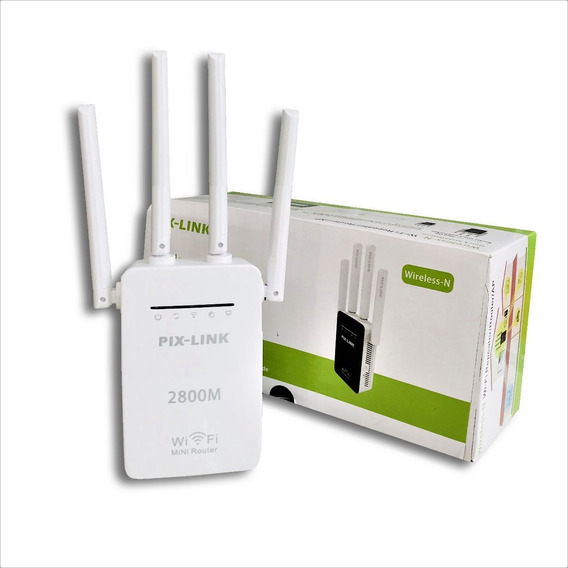 Repetidor Wi-fi 4 Antenas Wireless 2800m Super Forte N F