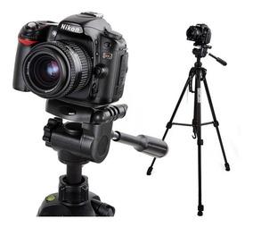 Tripé Câmera Profissional Nikon Gopro Até 1,80 Mts + Bolsa