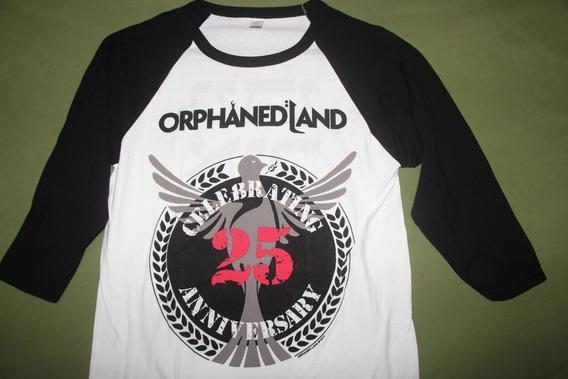 Gusanobass Playera Rock Metal Orphaned Land Mang 3/4 Oficial