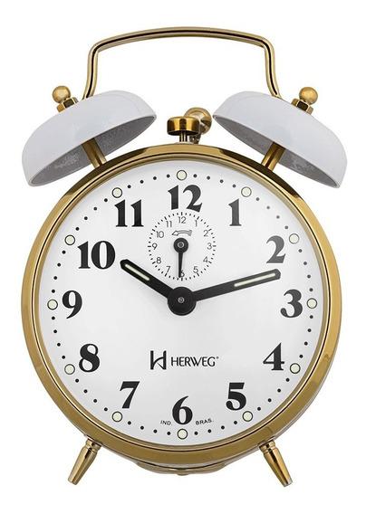 Despertador Novo Corda Antigo Alarme Forte Herweg 2215