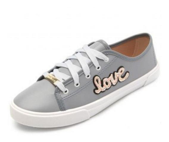 Tênis Feminino Casual Moleca Love   Preto   Jeans