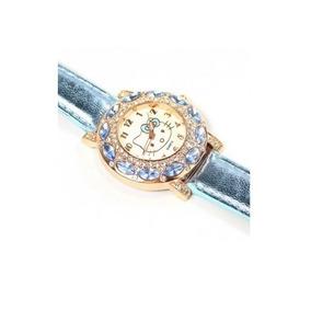 Relógio Feminino Pulso Hello Kitty Infantil Adulto - Azul