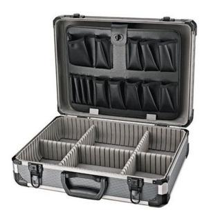 Maletin Aluminio 45 Reforzado Robust Caja Herramienta Llave --18 Cuotas Sin Interes