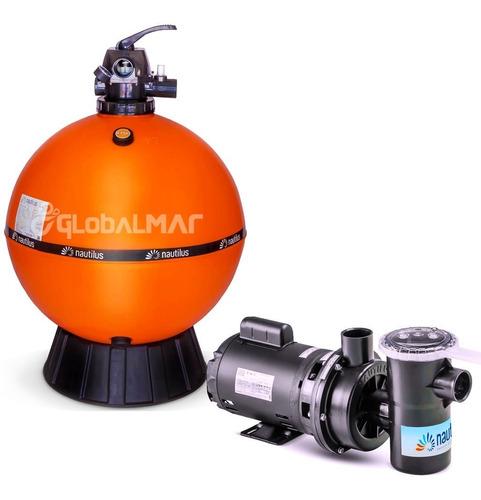 Imagem 1 de 7 de Conjunto Filtração Piscina 170m³ Filtro Bomba Motor 1,5cv