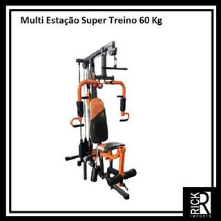 Multi Estação De Musculação Super Treino 60kg - Academia